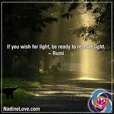 If You Wish For Light, Be Ready To Receive Light  Rumi Wwwnadinelovecom  Receiving Quotes