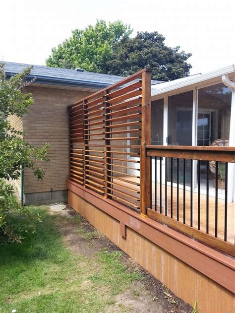 Backyard Privacy Screen by 25 Best Ideas About Privacy Deck On Privacy