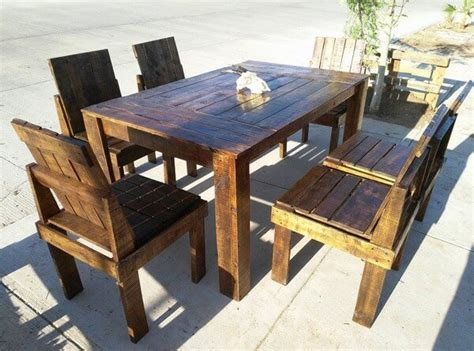 amazing pallet dining table and chairs ideas pallets designs