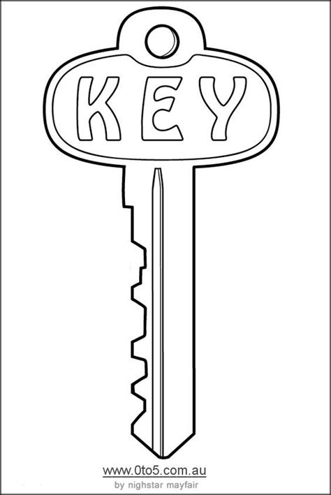 printable key template cut