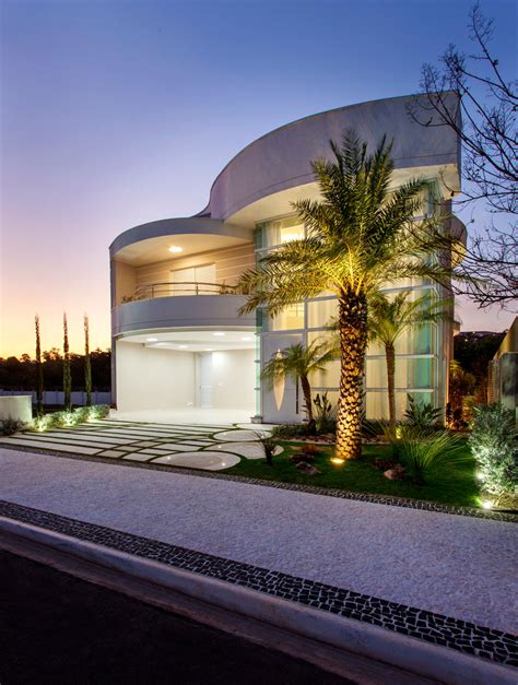 brazilian modern house  curved lines  organic forms idesignarch interior design