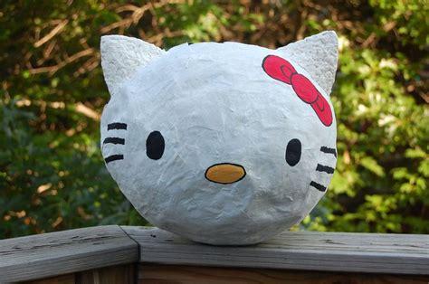 paper mache pinata paper mache kitty pi 241 ata you ll need 1 balloon elmer s glue bits of newspaper some tempera
