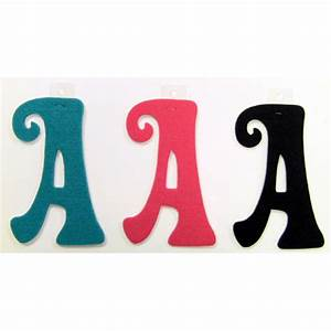 felties script letter with adhesive a pink black blue set With pink adhesive letters