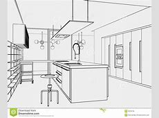 Kitchen toonstyle stock illustration Illustration of