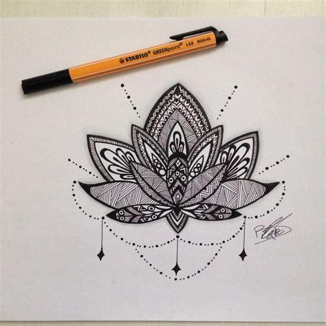 dessin mandala fleur de lotus dessins pinterest