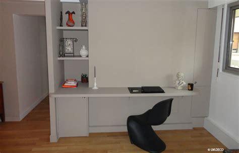 espace bureau dans salon avant après aménager un espace cuisine salon bureau 14