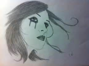 Person Crying Drawing
