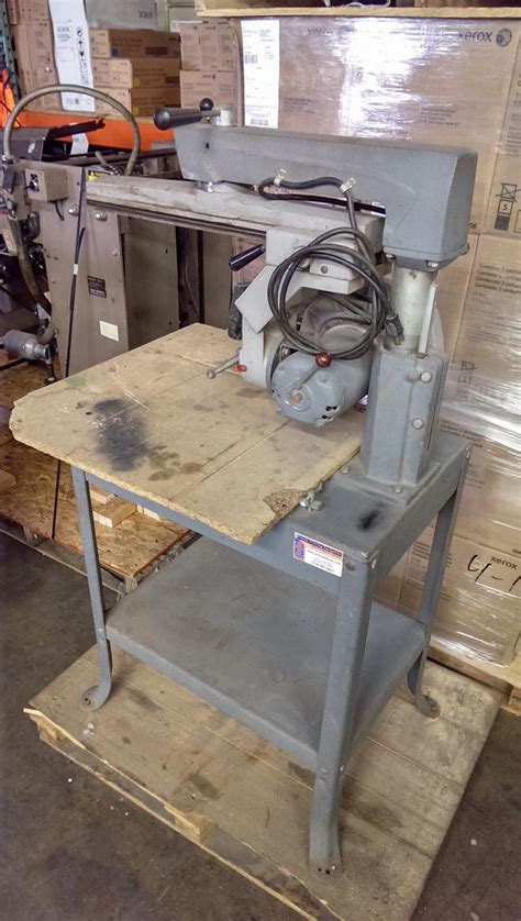 rockwell model 9 table saw lot 22 delta rockwell radial table saw wirebids