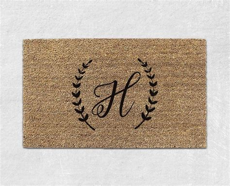 initial doormats best 25 monogram doormat ideas on diy