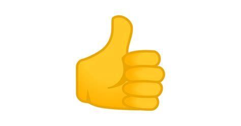 pulgar hacia arriba emoji