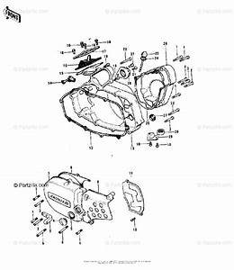 Kawasaki Motorcycle 1974 Oem Parts Diagram For Engine Covers   U0026 39 74 A  A3