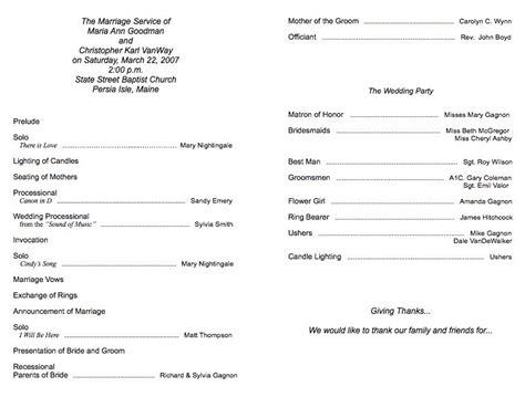 program   wedding programs elegant