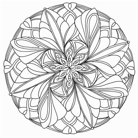 advanced mandala coloring pages printable coloring home