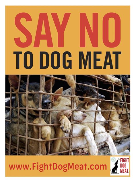 posters fight dog meat