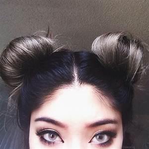 cute hair buns | Tumblr