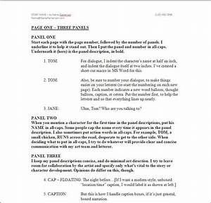 Looking for a comic book script format check out the for Comic book script template