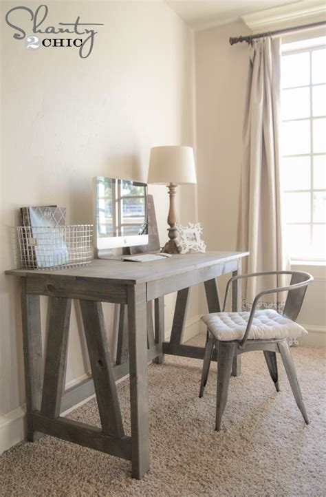 plans to build a desk free woodworking plans diy desk