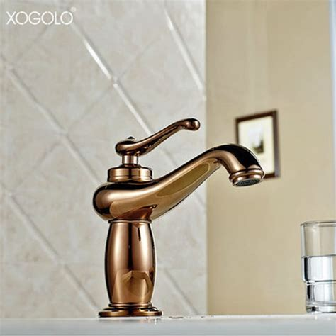 gold bathroom sink xogolo luxury antique bathroom faucet cold and solid 12987