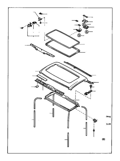 Toyota 4Runner Glass sub-assembly, removable roof. Body
