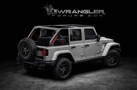 jeep wrangler unlimited 2018 jeep wrangler unlimited previewed in unofficial renders motor trend