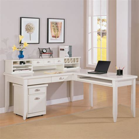 white writing desk with hutch kathy ireland home by martin tribeca loft l shaped writing