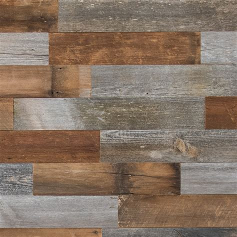 wood planks on walls shop artis wall 5 25 in x 4 ft reclaimed wood wall plank at lowes com