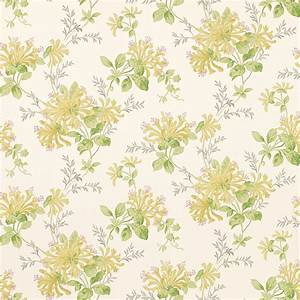 Honeysuckle Trail Camomile Yellow Floral Wallpaper at ...
