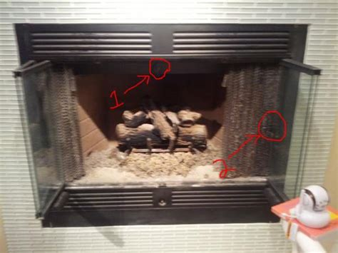 gas fireplace wondering   lever
