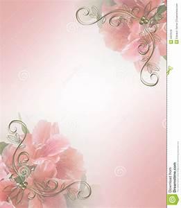 Wedding invitation pink floral design royalty free stock for Wedding invitation designs fuchsia pink