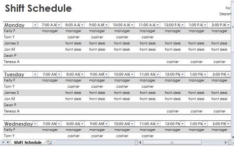 employee shift schedule 2013 printable employee vacation schedule osya