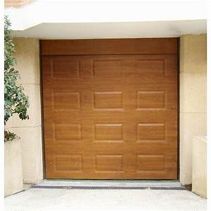 porte de garage sectionnelle artens h200 x l240 cm With porte garage basculante leroy merlin