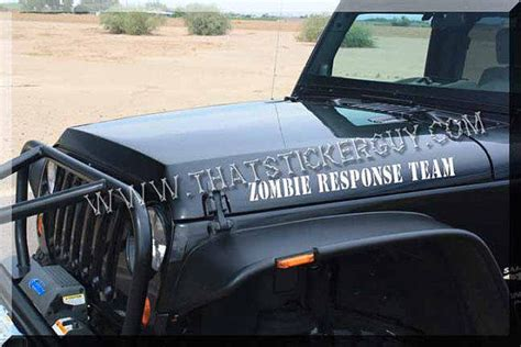 zombie response jeep zombie response team jeep hood sticker from thatstickerguy on