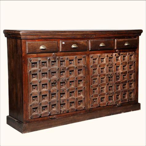 Wood Sideboard Cabinet by Reclaimed Wood Rustic Sideboard Cabinet Storage