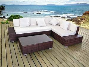 salon de jardin en resine tressee cadix canape d39angle With canapé d angle de jardin résine tressée