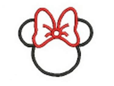 minnie mouse applique embroidery design  meylah