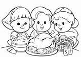 Dinner Turkey Drawing Thanksgiving Coloring Meal Getdrawings sketch template