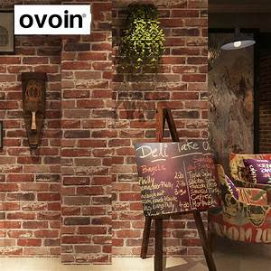 rustic vintage 3d faux brick wallpaper roll vinyl old With best brand of paint for kitchen cabinets with papier peint 3d brique