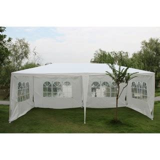 white party tent gazebo canopy removable sidewalls shopee malaysia
