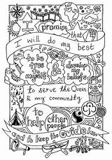 Promise Brownie Scout Coloring Brownies Guide Girlguiding Guides Colouring Activities Scouts Sheet Law Sheets Crafts Rainbow Emy Created Daisy Mandalas sketch template
