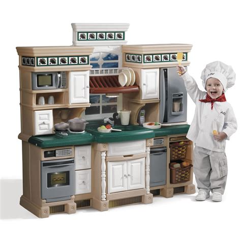 cuisine fisher price lifestyle deluxe kitchen play kitchen step2