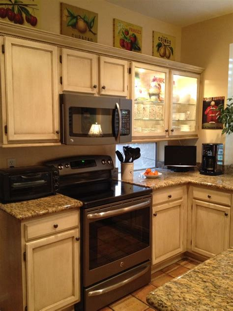 ge slate appliances french country wooden kitchen