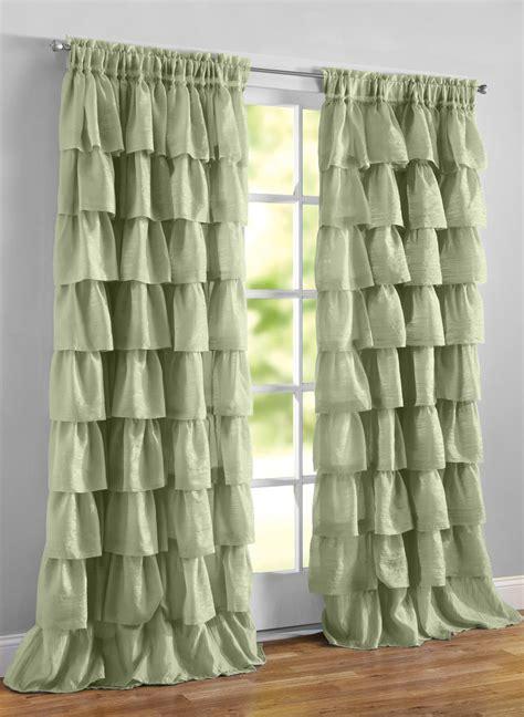 Ruffle Drapes - ruffled layered curtains carolwrightgifts