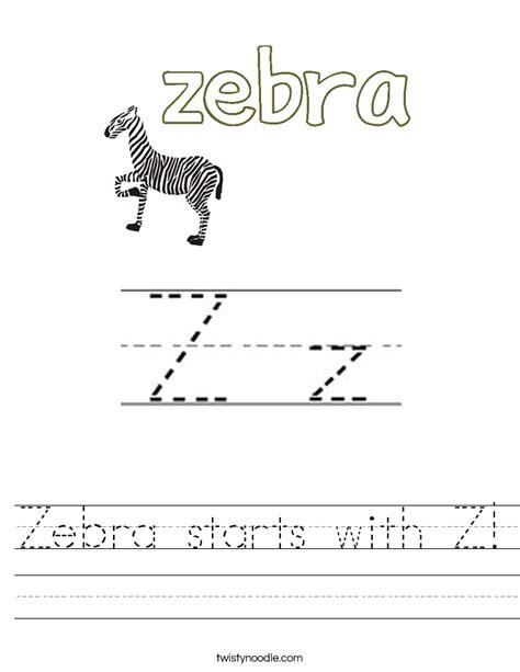 zebra starts   worksheet twisty noodle