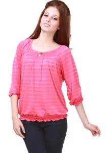 Pink Women's Blouse Tops