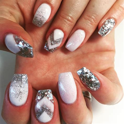acrylic nails designs 24 silver acrylic nail designs ideas design trends