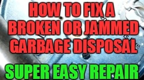 sink disposal doesnt work how to fix a broken or jammed garbage disposal that doesn