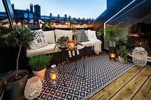 amenagement toit terrasse moderne 22 idees magnifiques a With tapis exterieur avec canape rotin exterieur