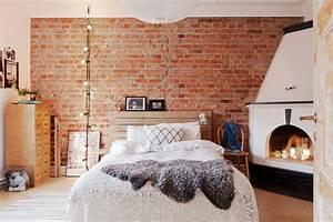 Déco Chambre Cosy : le mur en brique l accent qui apporte de la chaleur au domicile ~ Melissatoandfro.com Idées de Décoration