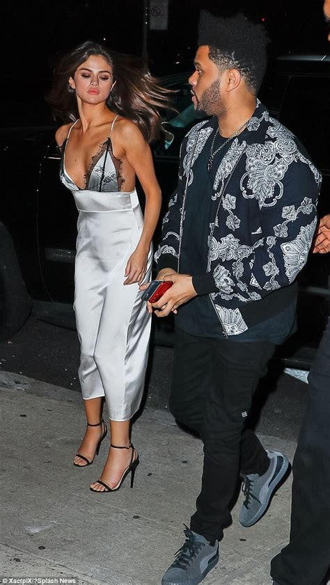 Selena Gomez on date with The Weeknd looking stony-faced ...