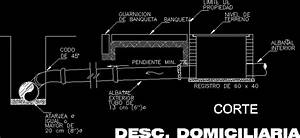 Domiciliary Discharge And Water Meter DWG Detail for